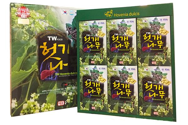 nước uống bổ gan giải rượu hàn quốc teawong 70ml x 30 gói