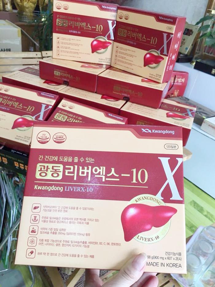 bổ gan đào thải chất độc LiverX10 Kwangdong 120 viên