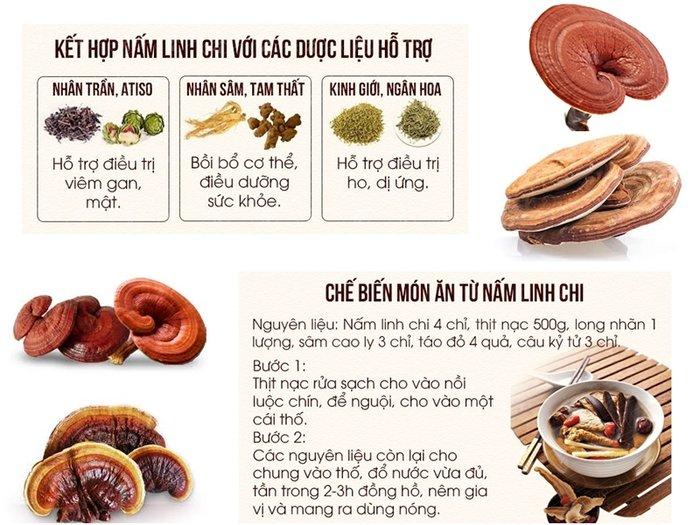 công dụng của nấm linh chi Hàn Quốc