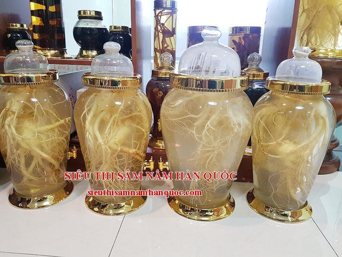 nhân sâm tươi Hàn Quốc 4 củ ngâm rượu