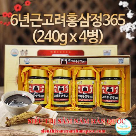 Cao Sâm  365  Hàn Quốc 240g x 4 Lọ Sam Sung