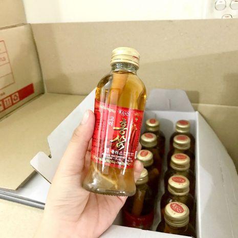 Nước Sâm Hàn Quốc Có Củ KGS 120ml x 10 Chai